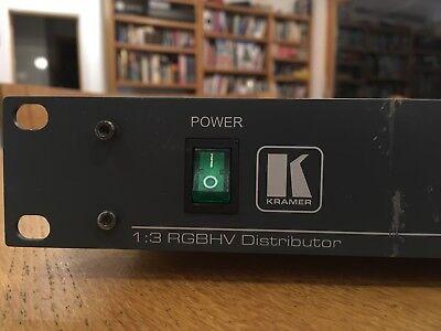 Kramer VP-123 RGBHV 1-in 3-out component / composite video distribution amp 2