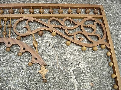 Antique Stick & Ball Oak Fretwork. Pierced corners with scroll design.8887 6
