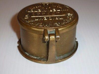 Vintage Neptune Meter Co. Trident Brass Meter Cover