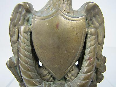 Old Brass Figural Eagle Door Knocker architectural hardware mid sized detailed