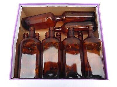 5 x alte braune Medizin Glas Apotheke Apotheker Flasche 250 ml ca. 17,0 cm braun 10