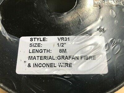 """8 Metres, VULCAN VR31-1/2"""" Expanded Graphite Packing, Grafan Fibre & Inconl Wire 3"""