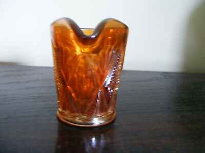 """Carnival   Marigold    Glass   Cream  Or   Milk  Jug    Height   3.1/4""""   Inches 8"""