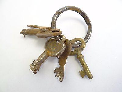 Antique Brass Steel Eagle Lock Co Safe Cabinet Door Lock Keys Used Old Metal 7