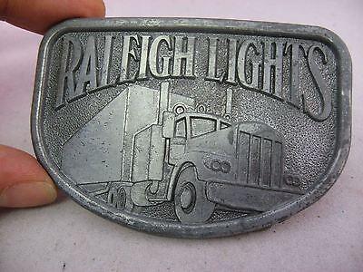 Vintage Mens Belt Buckle: RALEIGH LIGHTS Truck Semi 3
