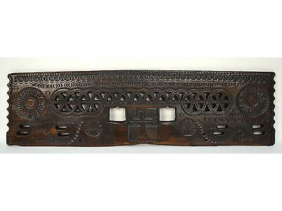16/17th Century Antique Carved Wood Architectural Decorative Panel 4