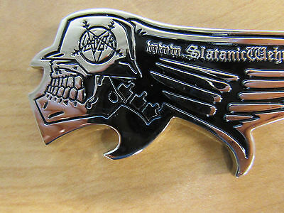 SLAYER Shaped Metal Bottle Opener Official Rare Very Solid RARE 3