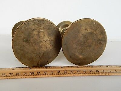Pair Antique or Vintage Brass Bronze Chinese Japanese Candlestick Holders 5""
