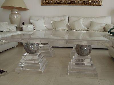 Luxusdesign wohnzimmertisch marmor acryl plexi massiv for Couchtisch plexiglas