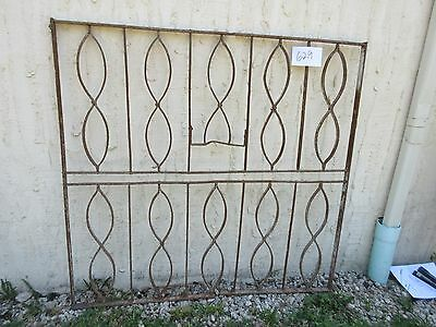Antique Victorian Iron Gate Window Garden Fence Architectural Salvage Door #629 2