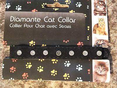 Black Velvet Diamante Cat Collar   Cco 04 2
