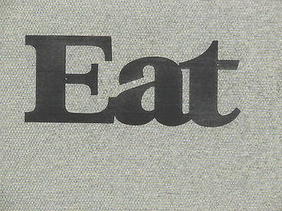 ... EAT Wood Wall Word EAT Sign Satin Black Kitchen