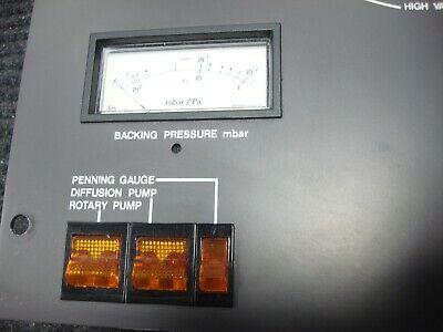 Polaron E6300 Sputter Coater Sputtering System Fisons Vacuum Control Panel 5