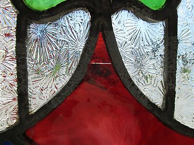 ~ ANTIQUE AMERICAN STAINED GLASS WINDOW ~ 12 x 37.5 ~ ARCHITECTURAL SALVAGE 6