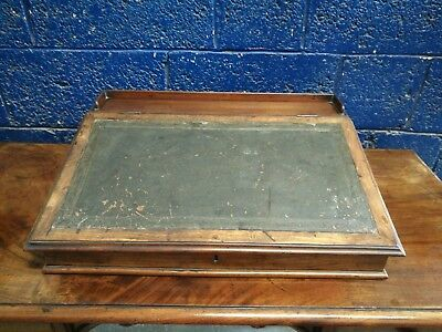 Stunning ~Antique ~Writing Slope ~Leather Top ~Mahogany ~VGC 2