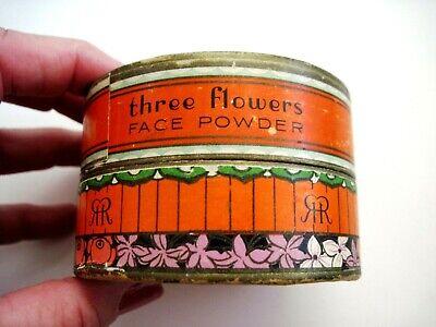 "Vintage Powder Box ""Three Flowers"" Face Powder - ""Richard Hudnut "" Art Deco  * 5"