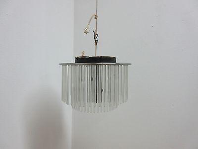 Vintage Mid Century Lightolier  Swizzle Sticks Hanging Light Chandelier Lamp 2