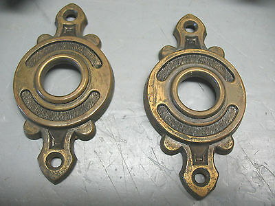 Brass  Doorset  Solid  Vintage  Original Complete  Arts / Crafts  No  Damage 4