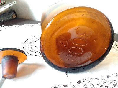 Apothekerflasche;Tinct. Ferri comp.; 3 ltr.;braunglas;geschl. Stöpsel;Loft;Deco