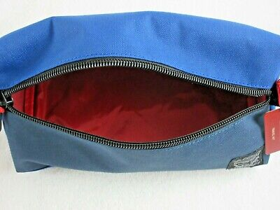 Levi Strauss Zip Up Travel Kit Toiletry Bag Dopp Kit Blue Red Free Ship NWT NR 5