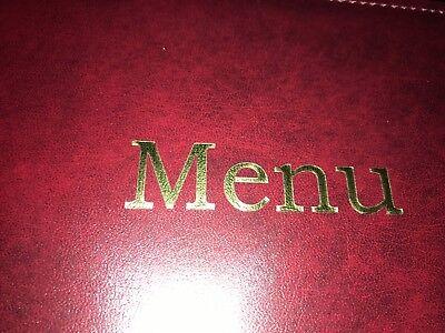 Qty 20 (Pu Leatherette) Top Quality A4 Menu Folder In Black Or Burgundy 6
