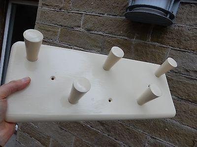 simple strong 1960s era  KITCHEN HALLWAY BATHROOM   MAN CAVE   COATHOOKS WOOD m 2