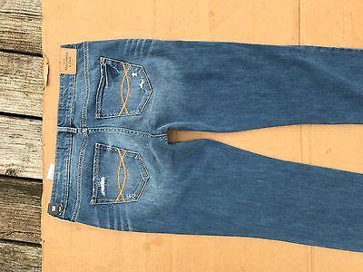 2695bbaab ... Abercrombie & Fitch Womens Skinny STRETCH Jeans Distressed SIZE 4R W27  L33 5