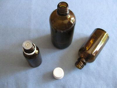 8 x Tropfflaschen DIN 18 Braun Glas Flasche Tropf Tropfeinsatz 20ml 50ml 100ml * 2