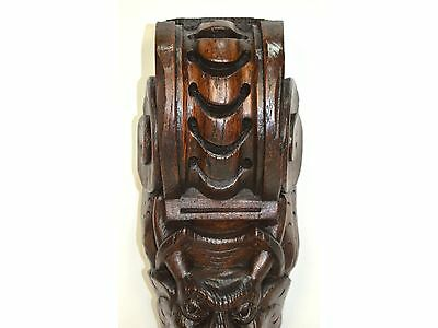 17th Century Antique Carved Wood Architectural Salvaged Figural Molding 8