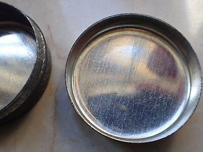 Antike Apotheker Dose Blechdose mit Aufdruck *Zugsalbe* 6