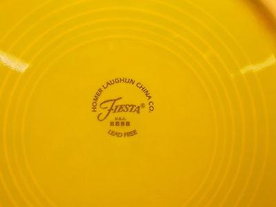 """Fiesta Homer Laughlin China Lemongrass Chartreuse Salad Plate ~ 7 1//4/"""" D"""