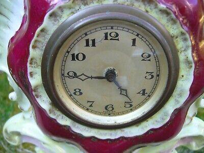 Victorian ceramic mantle clock WORKING 6