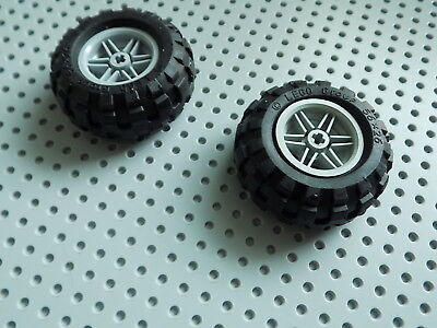 x 20mm  with Black Tire 56 x 26 Balloon x4 qty Wheel 30.4mm D LEGO
