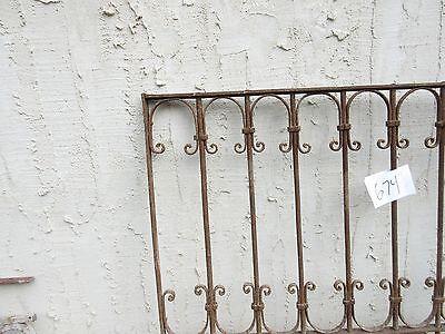 Antique Victorian Iron Gate Window Garden Fence Architectural Salvage Door #674 4