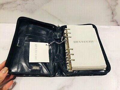 De Vecchi Dark Green Glossy Zip Around Address Book Planner Agenda 5