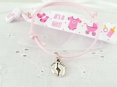 x5 BABY SHOWER PARTY GIFTS PRIZES CHARM BRACELETS MUM TO BE FAVOURS  KEEPSAKES