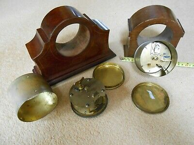 Vintage Mahogany Mantle Clock 8 Day Movement with Platform Escapement & another 7