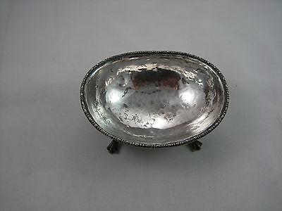 VINTAGE BEAUTIFUL 800 silver oval salt of 18th Century design 2