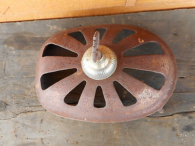 Ornate WOOD STOVE CAST Stove top STEAMPUNK Primitive Country VERY RUSTY 3