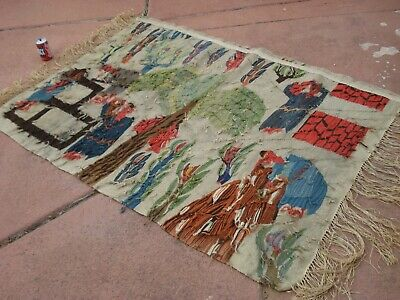 Hand Knotted Vintage Egyptian Kilim Weaving Rug from Ramses Wissa Wassef shops 11