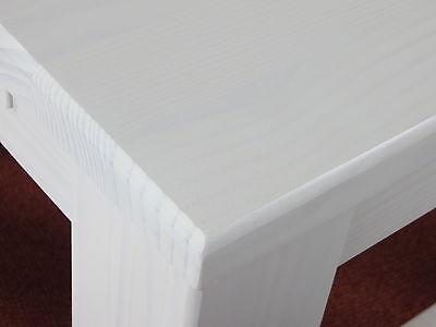 ESSTISCH PINIE MASSIV Tisch weiss 90x90 Holz Wohnzimmer Restaurant ...