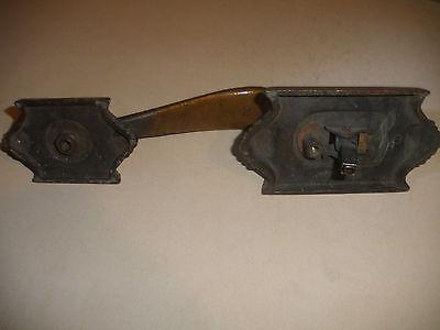 Great antique 19thc  bronze ornate door handle original 7