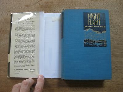 Photo Signed 1st Hcdj 1932 $1.75 Night Flight By Antoine De Saint-exupery