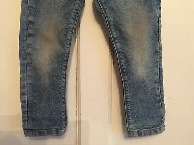 Boys Blue Dirty Vintage Skinny Denim Jeans from Next Age 3 years 3