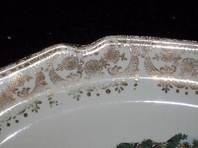 Antique Lovely Rare SABIN Dishware Warranted 22K Serving Dish 4