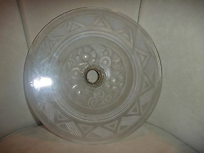 Art Deco Lightshade   Opaque Glass   See Hand For Scale 7