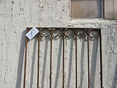 Antique Victorian Iron Gate Window Garden Fence Architectural Salvage Door #353 2
