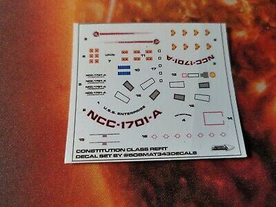 Star Trek Starships EAGLEMOSS USS Enterprise NCC-1701-A REFIT DECALS ONLY 3