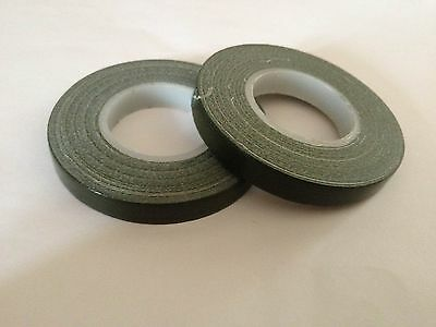 2 x Florist Olive Green Pot Tape 9mm x 10 metres ( x2 rolls ) 2