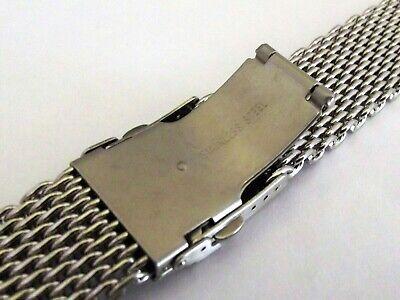 bracciale mesh shark massiccio orologi acciaio maglia milano silver ansa 20 mm 7
